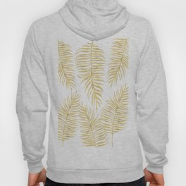 Fern Pattern Gold Hoody