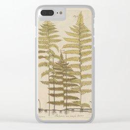 Vintage Fern Botanical Clear iPhone Case