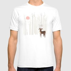 Reindeer of the Silver Wood MEDIUM White Mens Fitted Tee