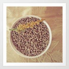 Wheat before the Grind Art Print