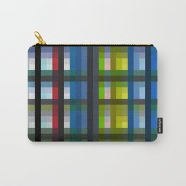 colorful striking retro grid pattern Nis Carry-All Pouch