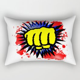 Comic Yellow Fist Boom Rectangular Pillow