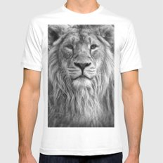 The King Mens Fitted Tee White MEDIUM