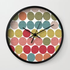 Tribal Dots Wall Clock