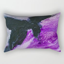 Flight: Acrylic in purple and black. Rectangular Pillow