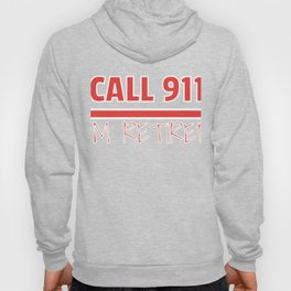 Retired Fire Fighter Retirement Gift print Hoody
