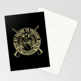 Soldier Motivation Retro Gas Mask Gift Stationery Cards