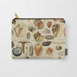 Vintage sealife and seashell illustration Carry-All Pouch