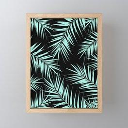 Palm Leaves Cali Finesse #4 #MintBlack #tropical #decor #art #society6 Framed Mini Art Print