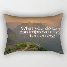 Improve Your Tomorrows Rectangular Pillow