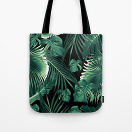 Tropical Jungle Leaves Dream #6 #tropical #decor #art #society6 Tote Bag