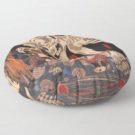 Takiyasha the Witch and the Skeleton Spectre, by Utagawa Kuniyoshi Floor Pillow