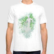 Love as Pain - Anahata in the heart White MEDIUM Mens Fitted Tee