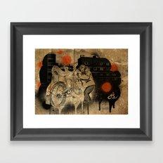 Bo-bo Steals a Ride (alt) Framed Art Print