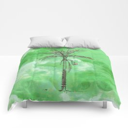 Green Palm Comforters