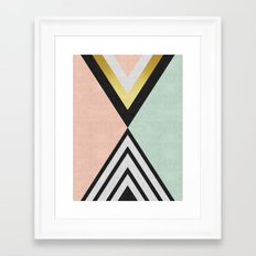 Minimalist fashion and golden I Framed Art Print