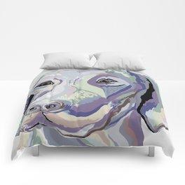 Weimaraner Denim Colors Comforters