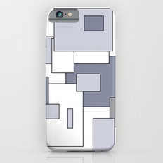 Squares - gray, purple and white. iPhone 6s Slim Case