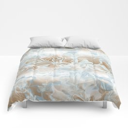 Watercolour in Blue Gold Comforters