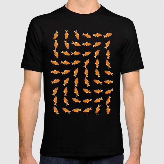 pattern goldfish T-shirt