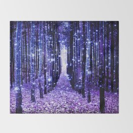Magical Forest Throw Blanket