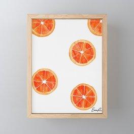 Watercolor Orange Slices Framed Mini Art Print