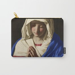 The Virgin in Prayer by Giovanni Sassoferrato (c. 1645) Carry-All Pouch