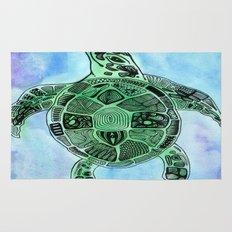 Tatoo Sea Turtle Rug