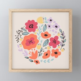 Fantasy Flowers Framed Mini Art Print