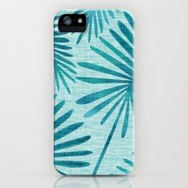Mid Century Tiki Fronds iPhone Case