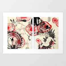 All Stuck in This Red Space Art Print