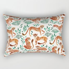 Cheetah Collection – Orange & Green Palette Rectangular Pillow