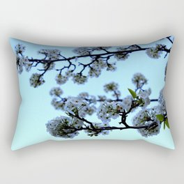 Early Morning Pear Blossom Rectangular Pillow