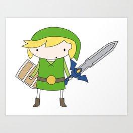 Link - Wind Waker Art Print