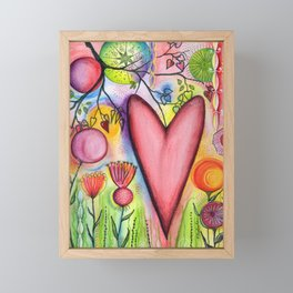 Many Hearts Heal Framed Mini Art Print