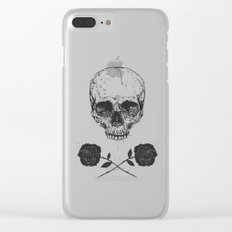Skull N' Roses Clear iPhone Case
