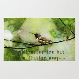 Hummingbird Miracles Rug