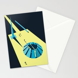 Soviet Modernism: Tsitsernakaberd, The Armenian Genocide memorial complex Stationery Cards