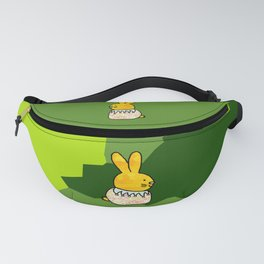 Rabbit on Spring Green - a large bunny for Easter Fanny Pack