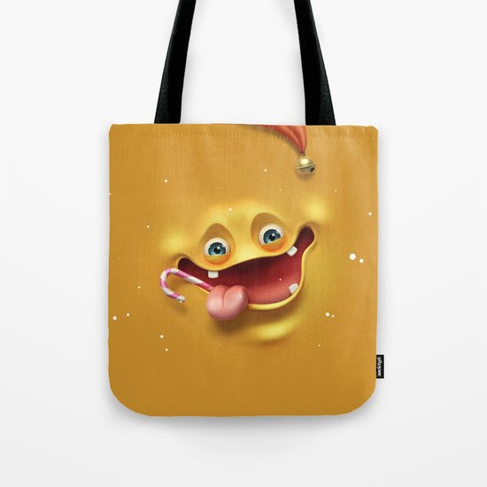 Christmas mad face Tote Bag