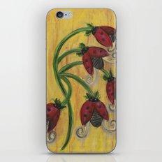 Ladybug Flowers iPhone & iPod Skin