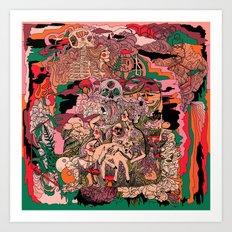 Village of Forest Art Print