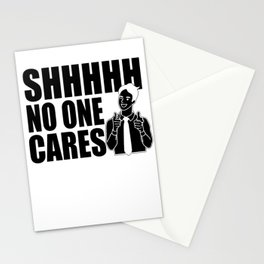 Sarcasm flap Hold No One Cares Gifts Stationery Cards