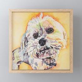 Rainbow Pup Framed Mini Art Print