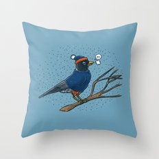 Annoyed IL Birds: The Robin Throw Pillow