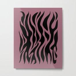 Bubble Gum Pink Stripes Metal Print