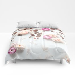 SPRING FLOWERS IN BLUSH 1 Comforters