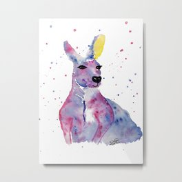 Joey the Purple Kangaroo Metal Print