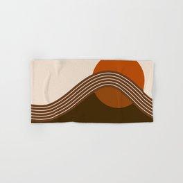 Cocoa Sundown Stripes Hand & Bath Towel