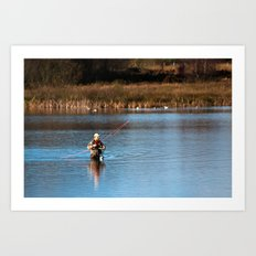 Gone Fishing 3 Art Print
